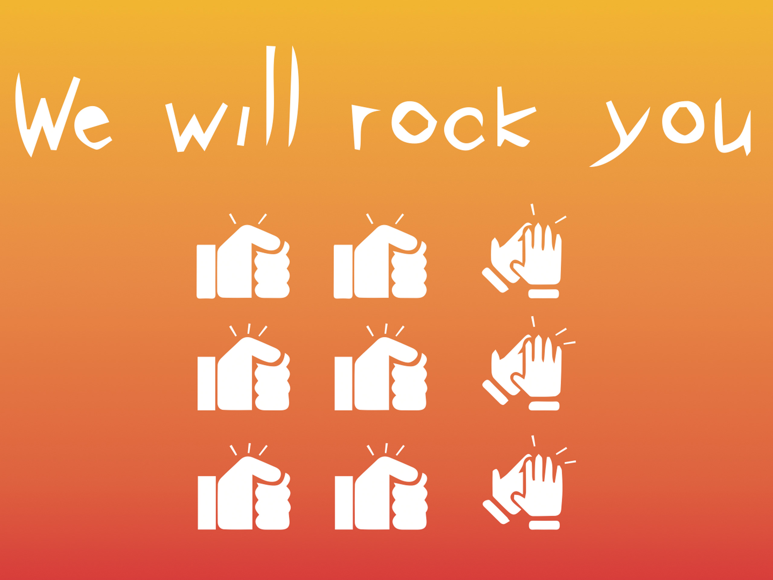 we will rock you Titelbild