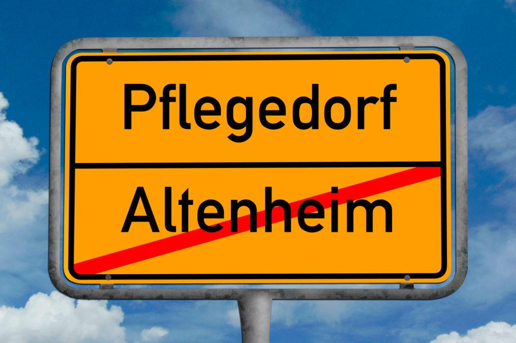 Ortsschild-Pflegedorf-Wohn-pflegeformen