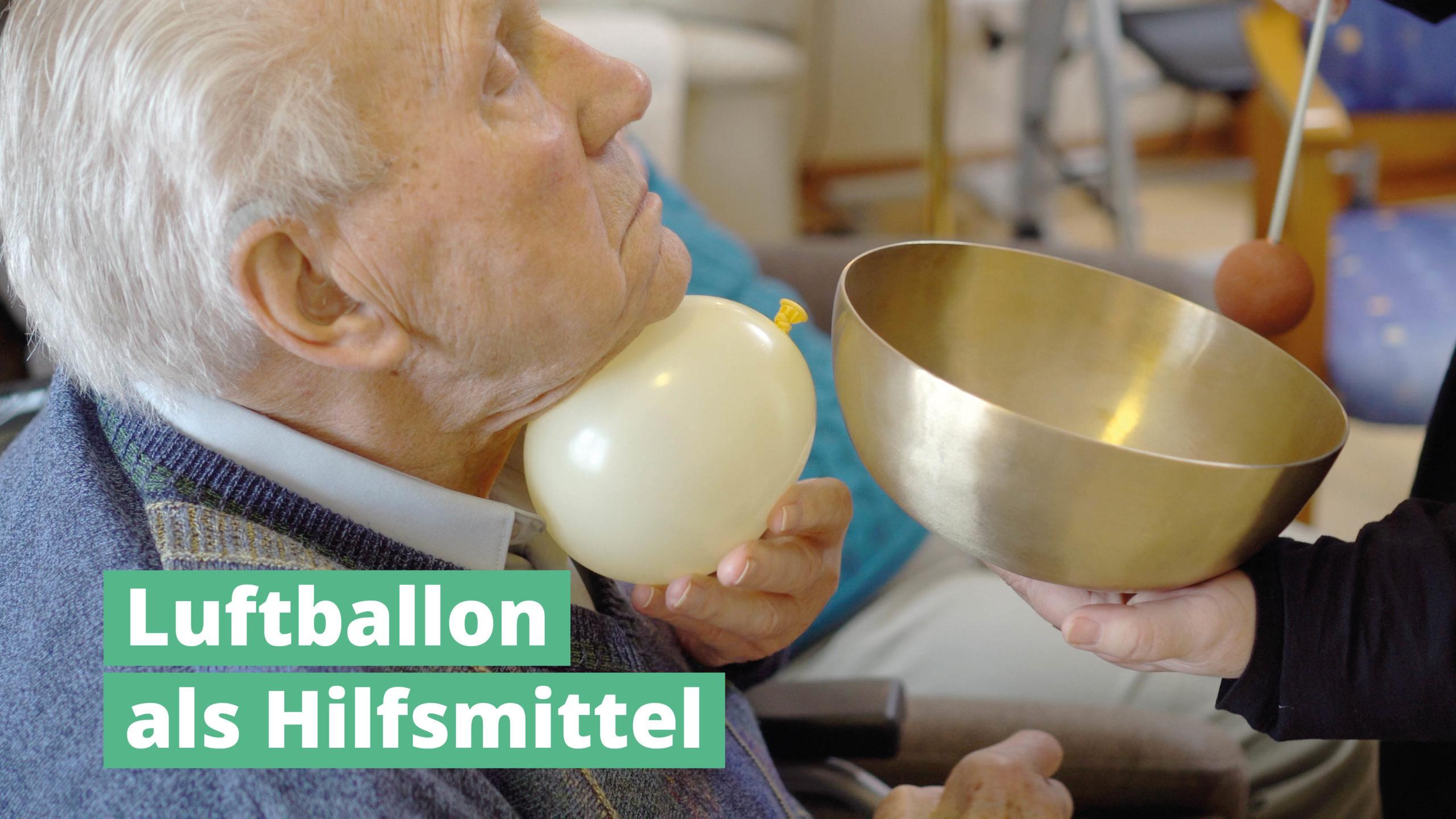 Luftballon als Hilfsmittel PeterHess Klangschalen Wir Sind Altenpflege
